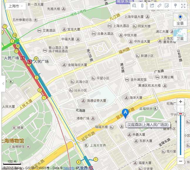 汉庭酒店(上海人民广场店)#请问从上海火车站到酒店怎么走?谢谢