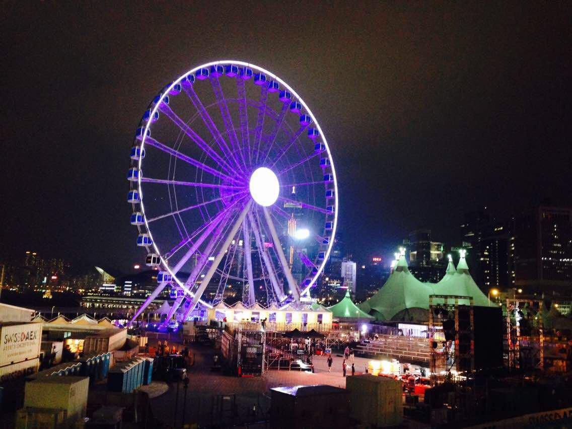 【携程攻略】香港香港摩天轮景点,香港中环的摩天轮蛮