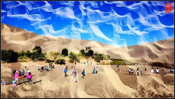 【绚丽甘肃】沙漠之眼,月泉奇观 - 渝帆 - 渝帆空间