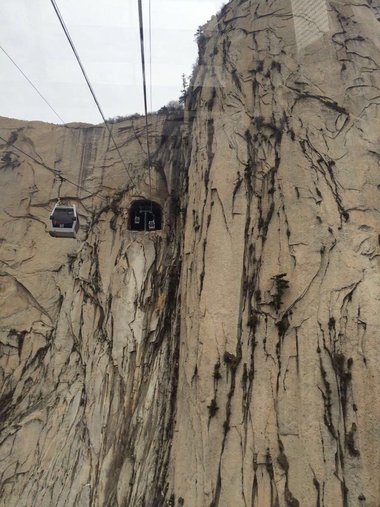 华山西峰缆车站                         图片