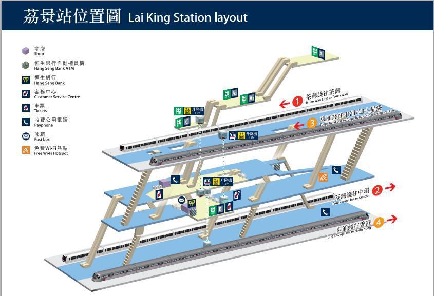 香港地铁换乘�z*_不用担心与纠结,参见附图,这只是香港地铁换乘站中两条线路的分布