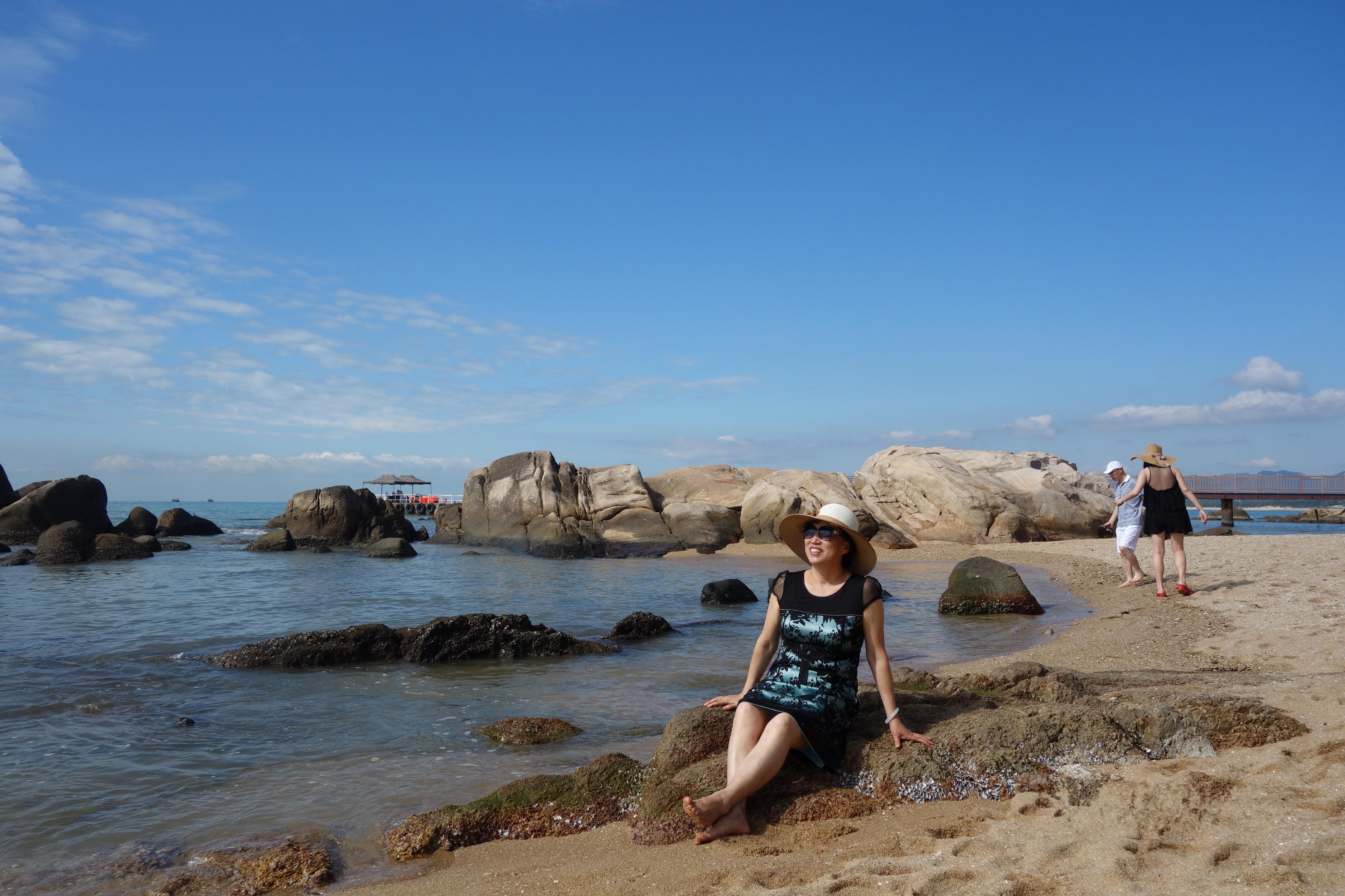 南中国海欢乐海岸椰林沙滩-南中国海