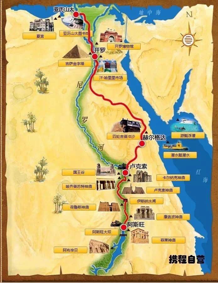 埃及手绘地图中文版