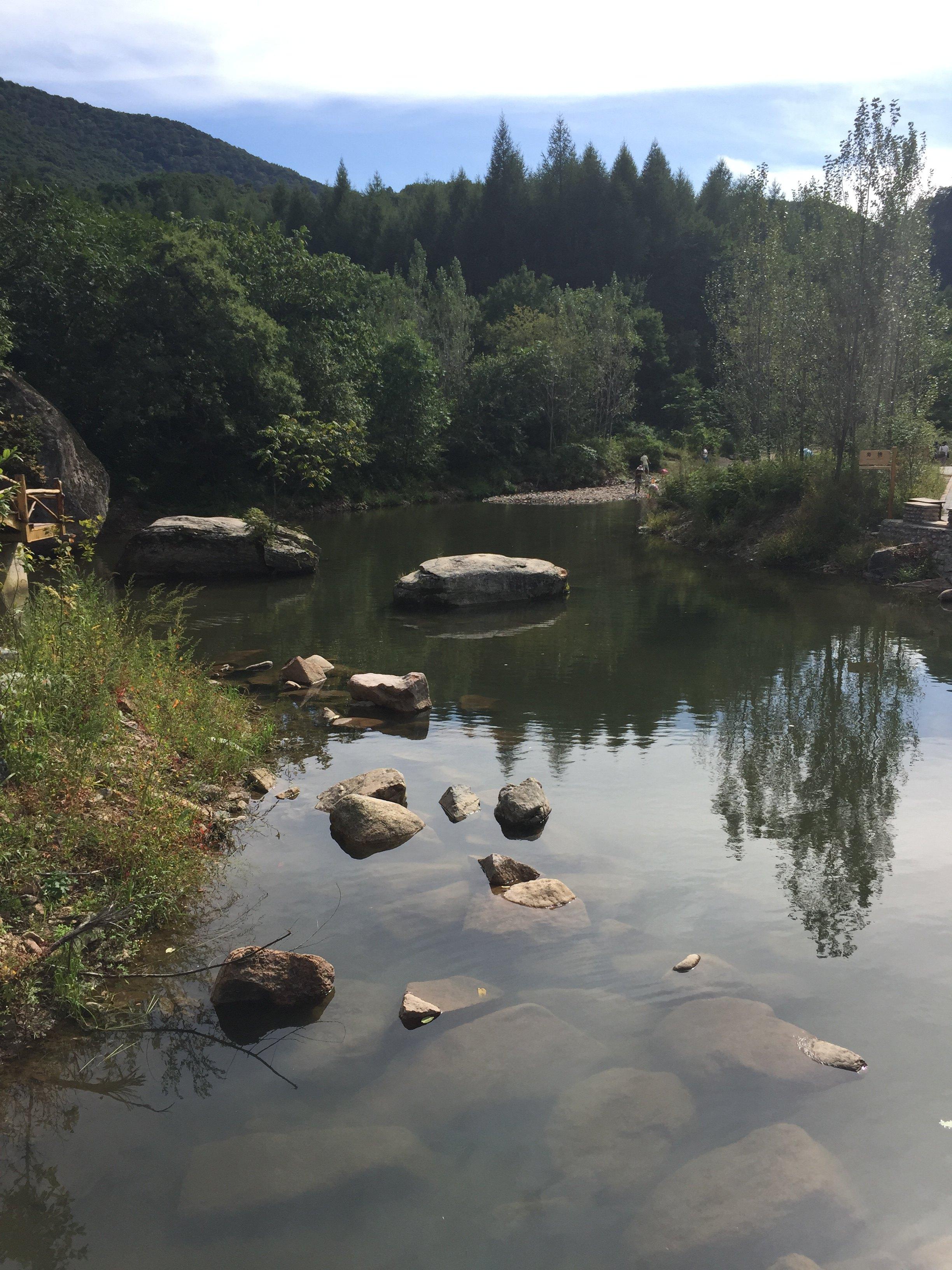 本溪水洞,大石湖