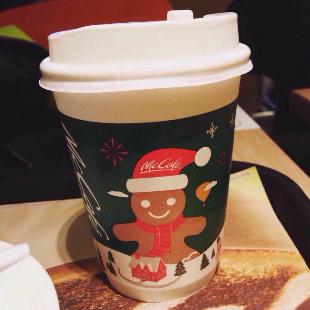 麦当劳咖啡杯子_   麦当劳的热牛奶,好好看的杯子