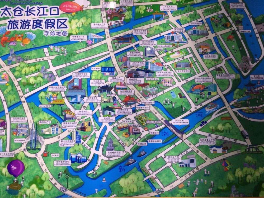 古镇设计手绘平面图