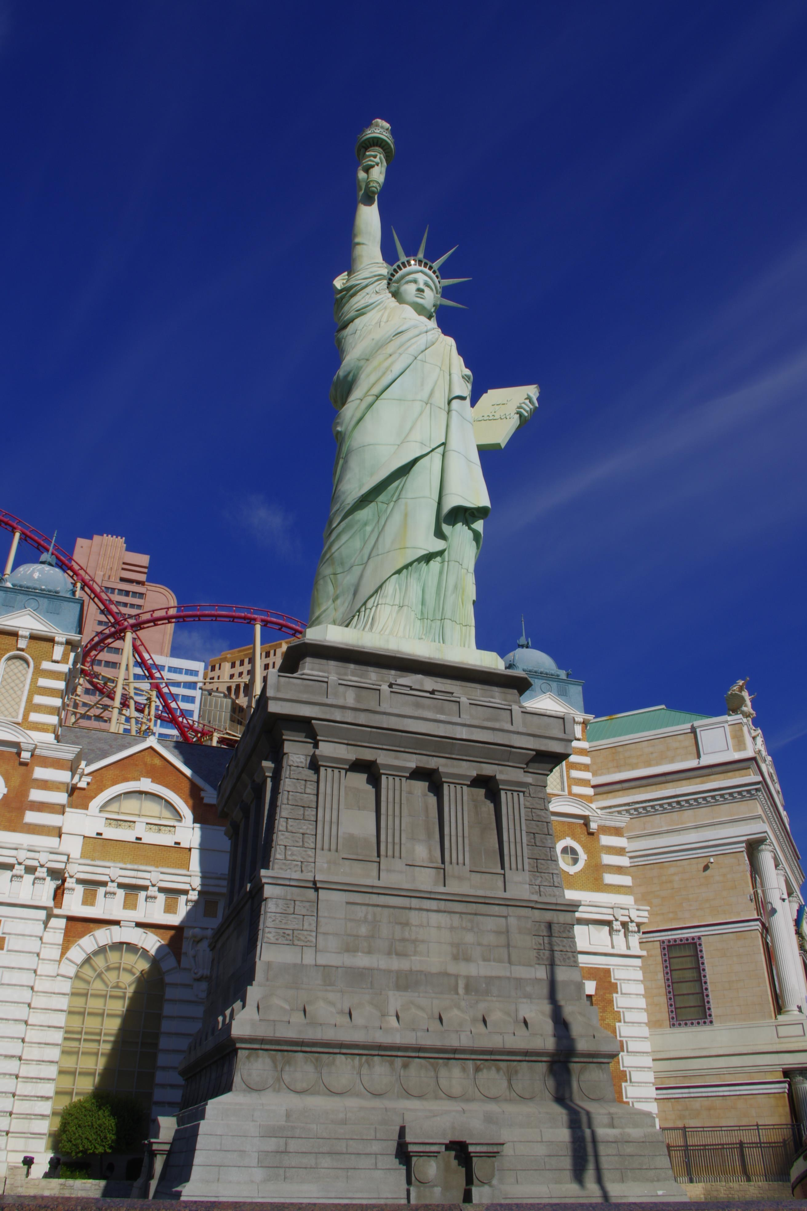拉斯维加斯自由女神旅游景点攻略图