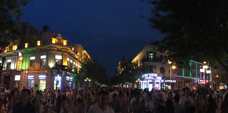 中央大街的欧式建筑很有特色