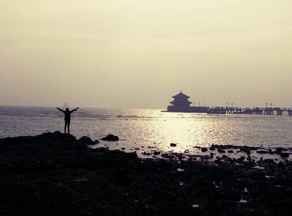 青岛栈桥矢量图