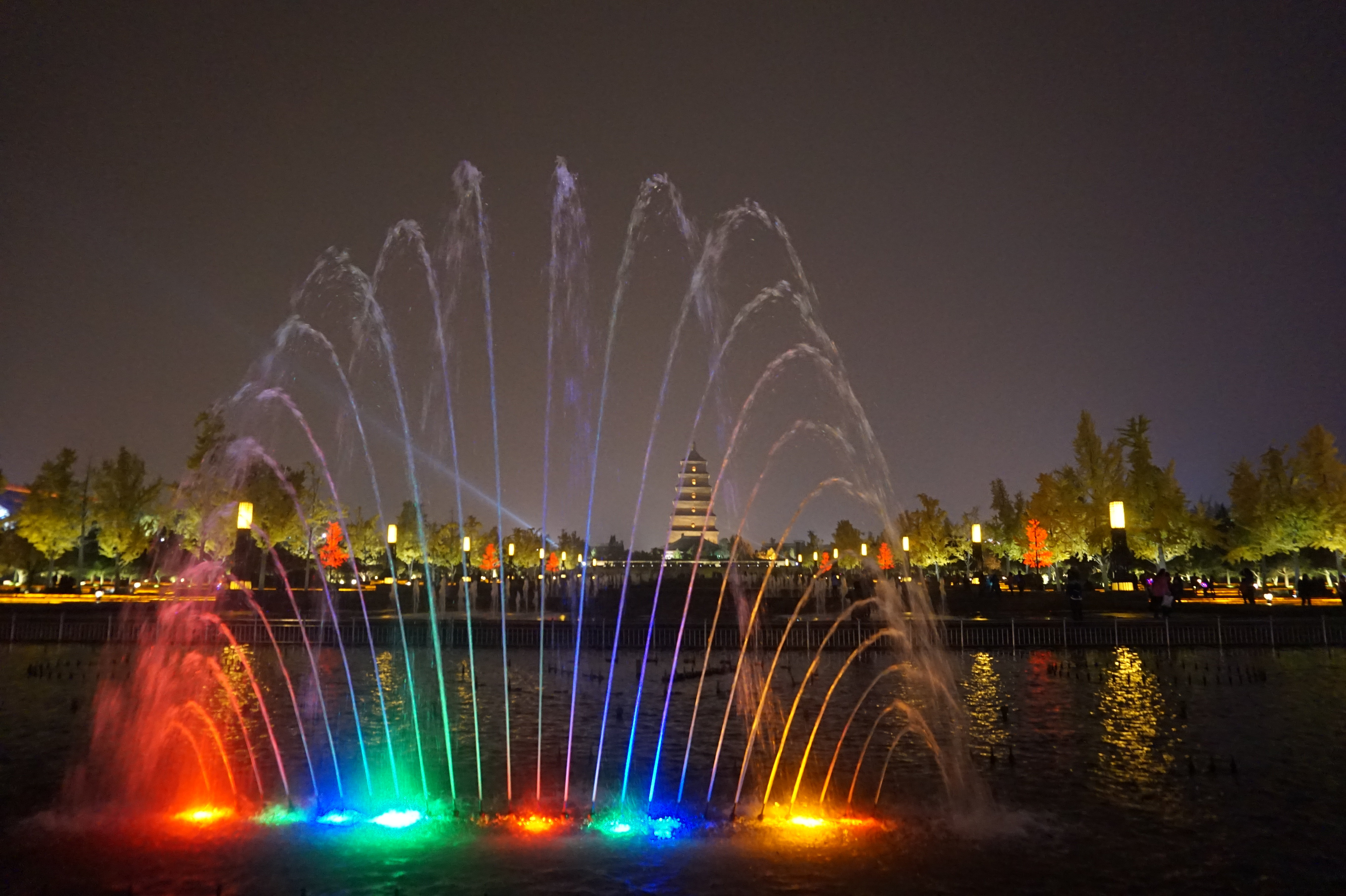 大雁塔音乐喷泉图片