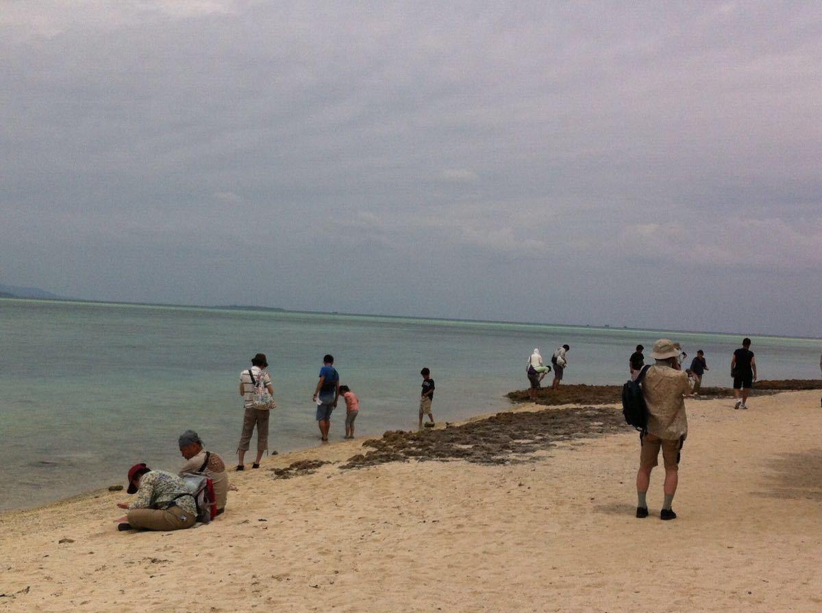 探寻了瀑布,再欣赏了星砂海滩,最后到西表海滩戏水.