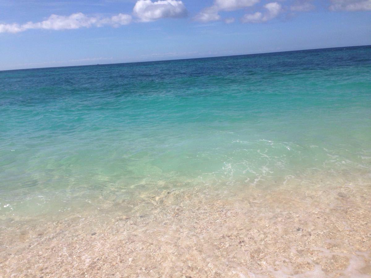海滩简笔画有颜色的