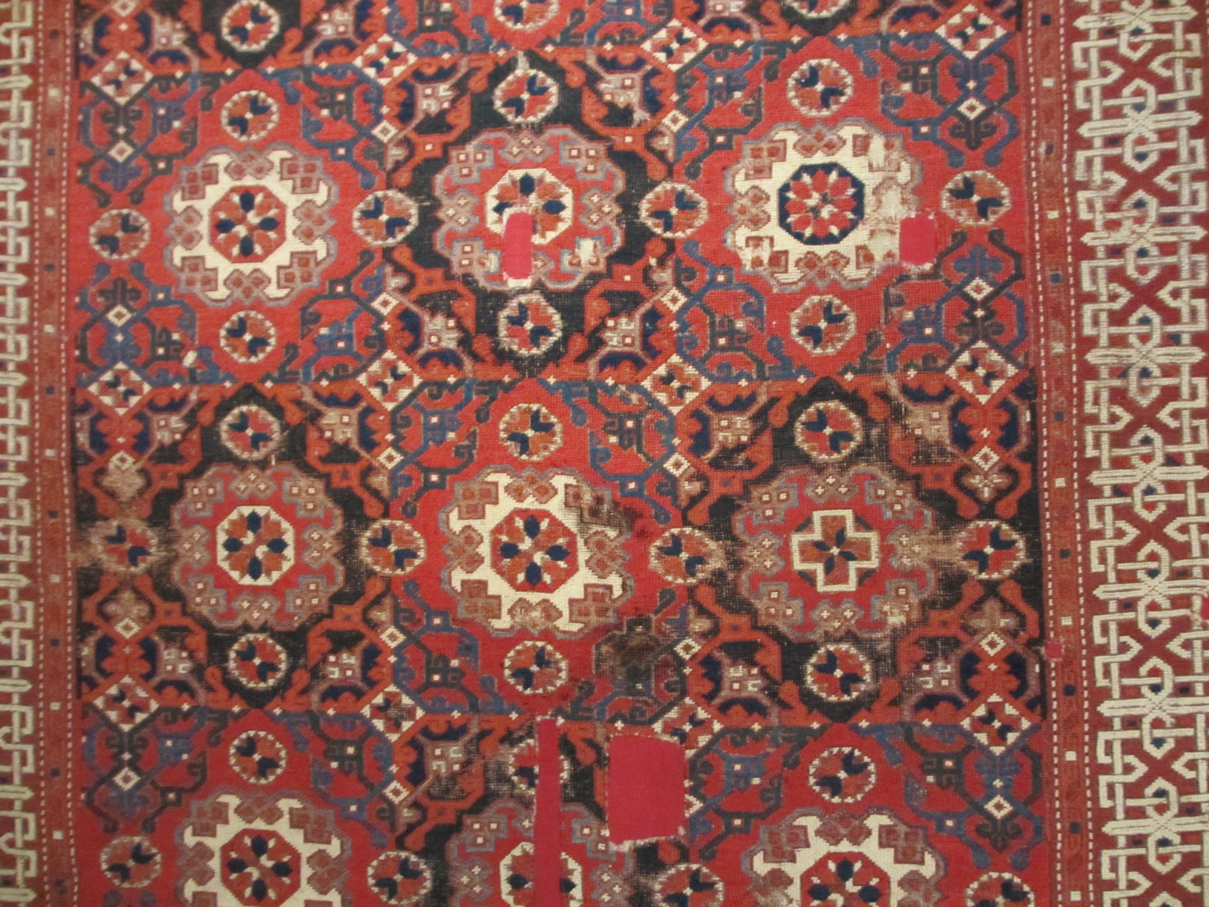 一些伊斯兰风格的挂毯花纹非常美丽.而且有实用价值