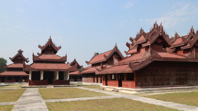 唐代皇宫建筑手绘物