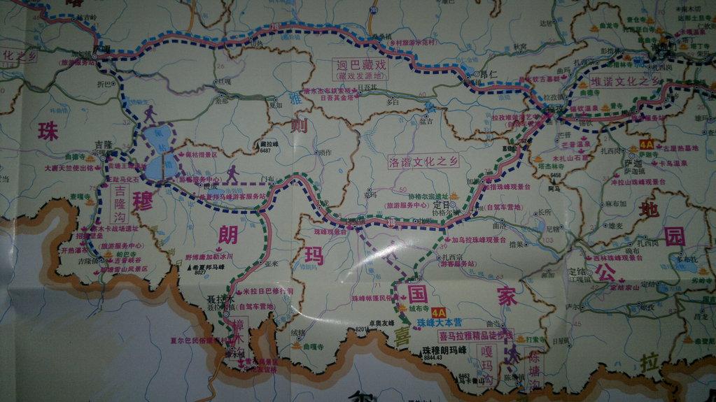 珠穆朗玛峰地图