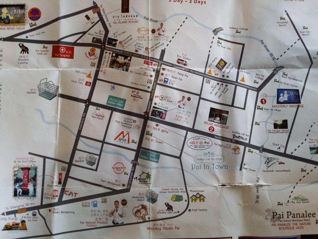 还送我一张pai的中文地图