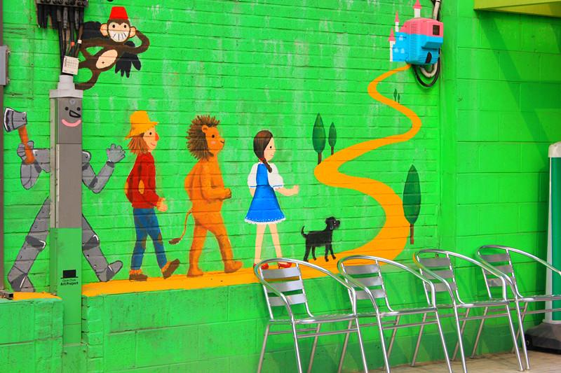 可爱的涂鸦墙