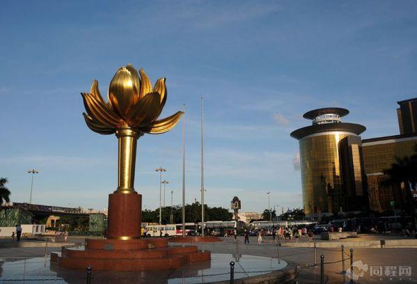金沙娱乐城与集美娱乐场的中间有一个大型的喷泉水池