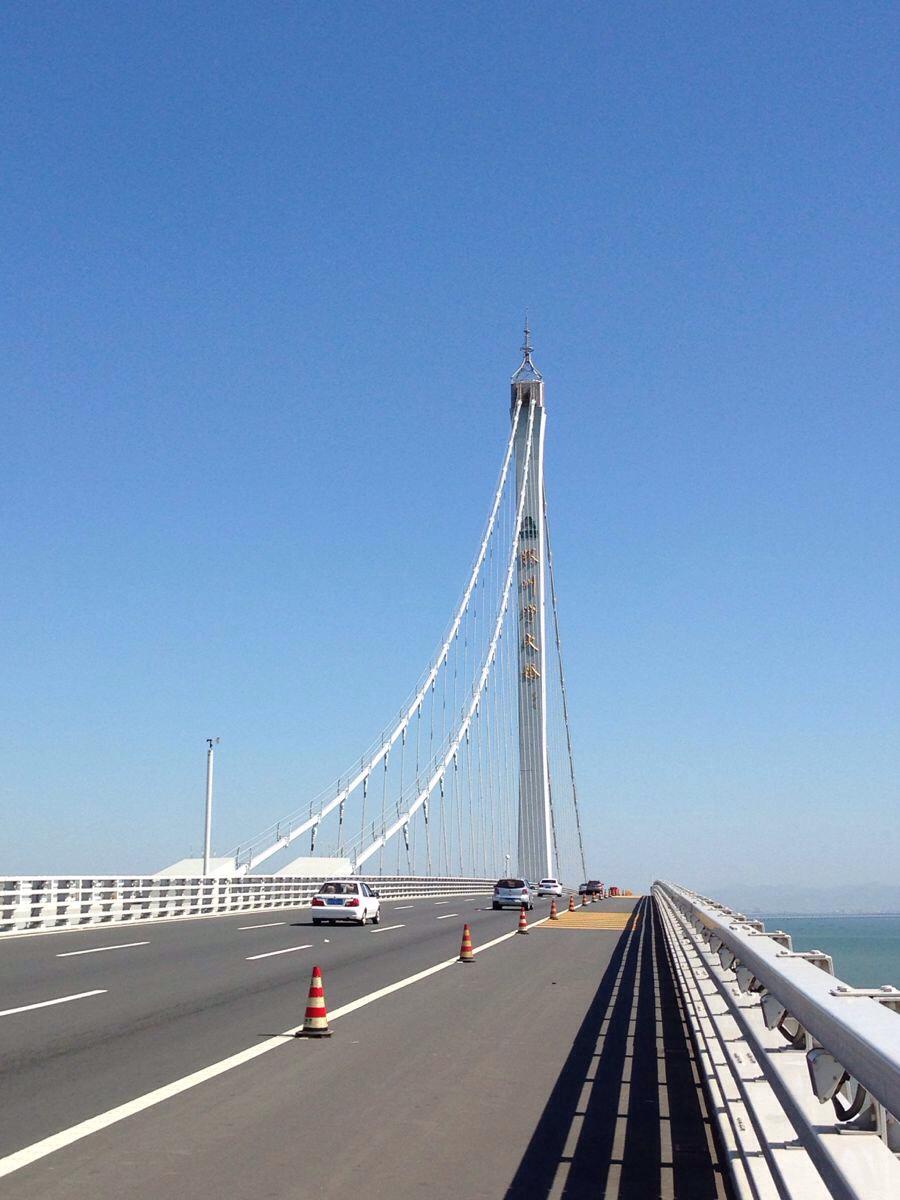 胶州湾大桥全程32公里跨海大桥图片