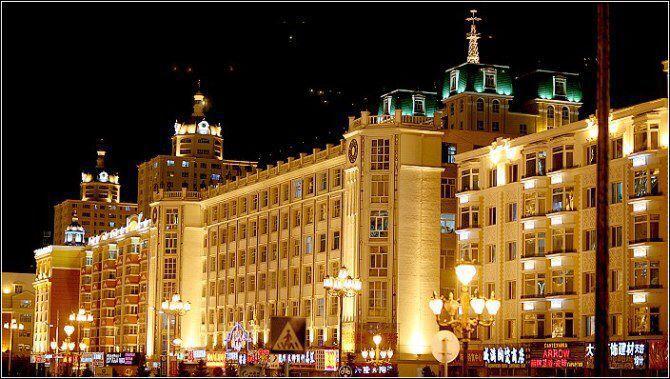 欧式夜景街道风景图片