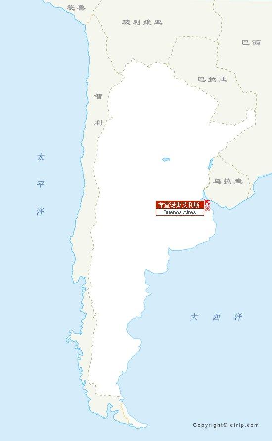阿根廷旅游电子地图,最新阿根廷旅游景点地图下载