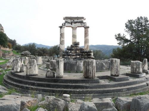 古希腊神庙手绘