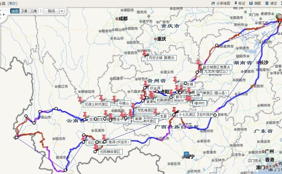 腾冲旅游地图最新