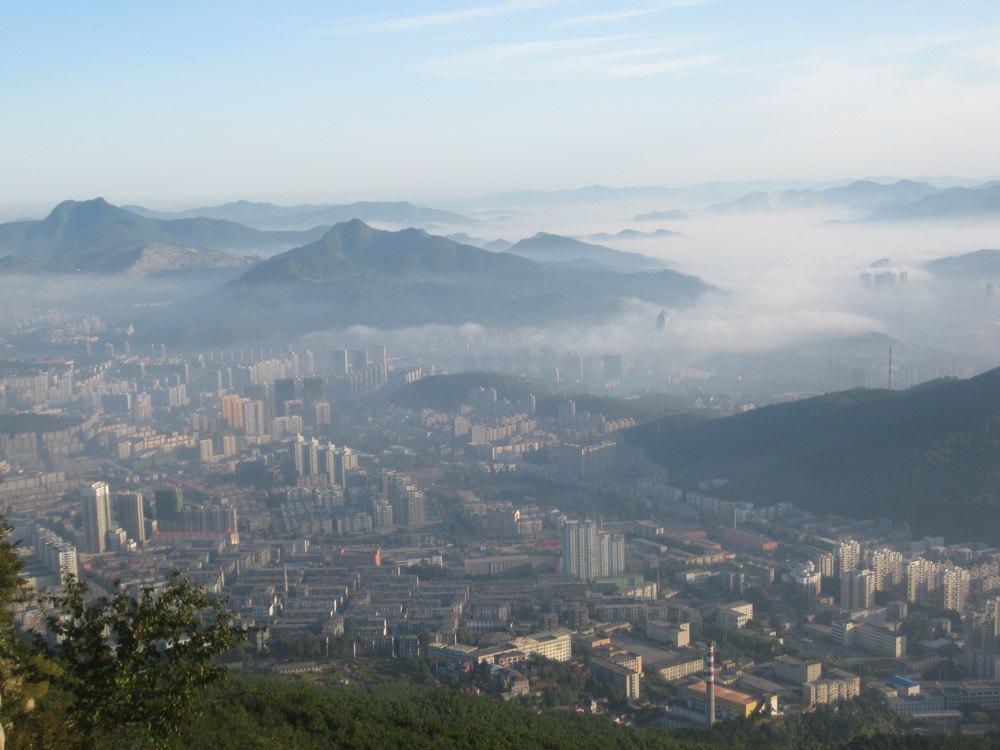 本溪之平顶山の看日出篇 高清图片