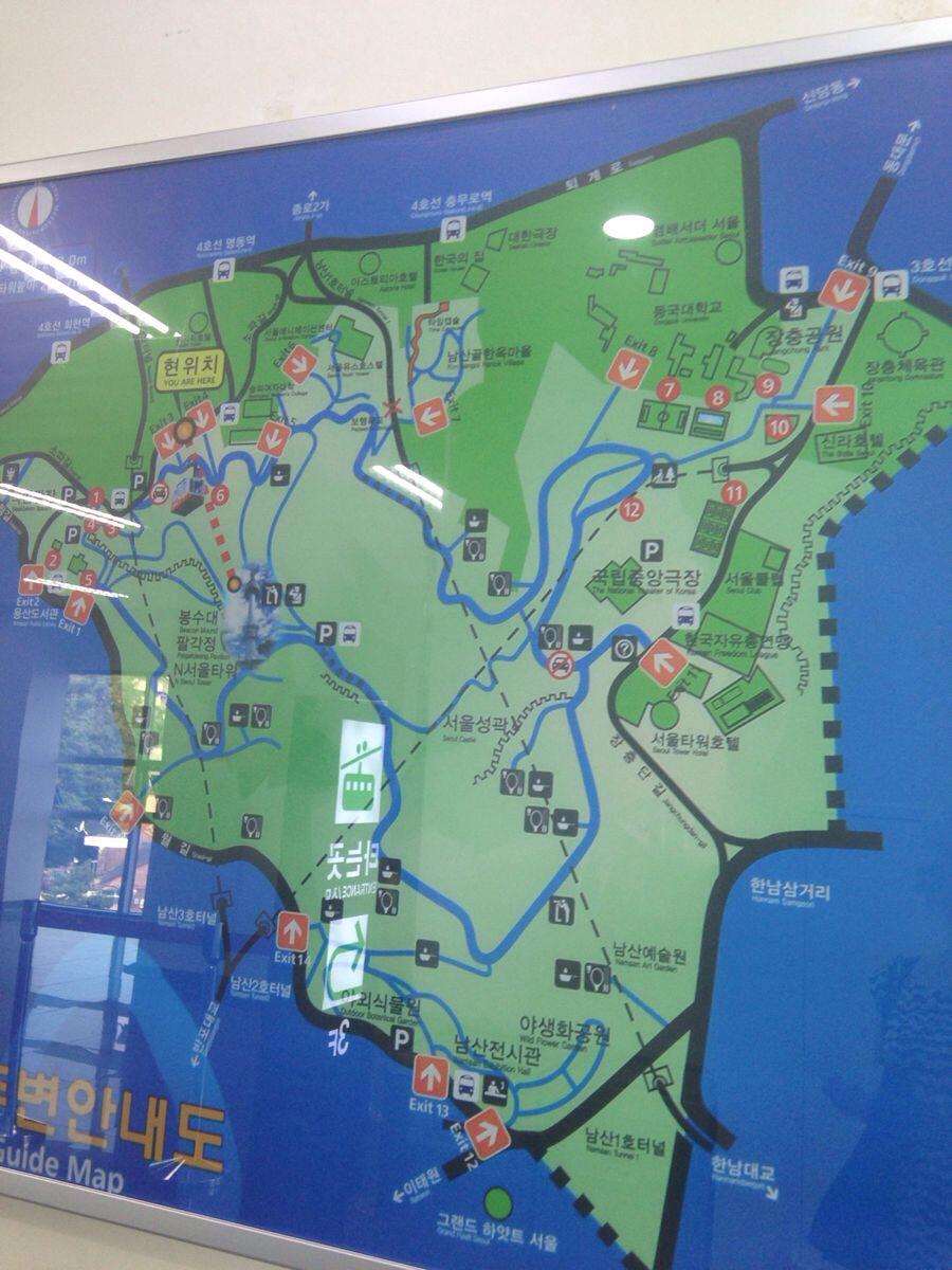 首尔塔地图