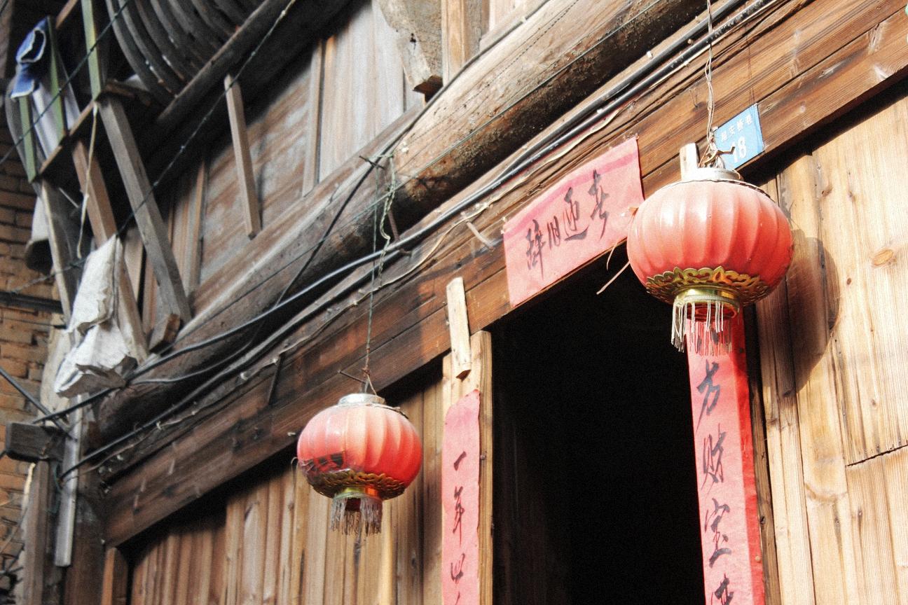 老旧的木式建筑