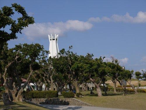 日本冲绳首里城 旧海军司令部壕 姬百合塔 和平祈念公园 冲绳文化王国