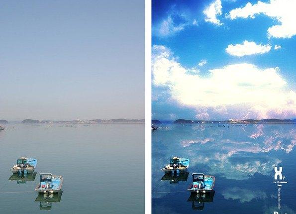 ps湖水背景素材