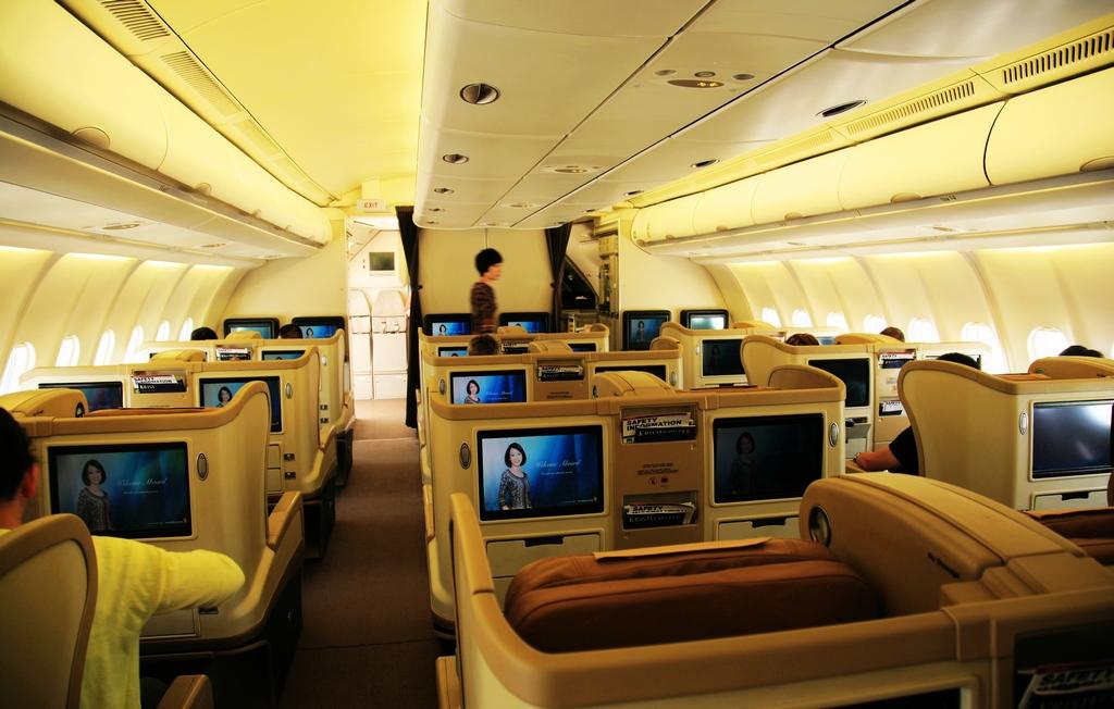 飛機頭等艙和經濟艙主要區別在哪.圖片