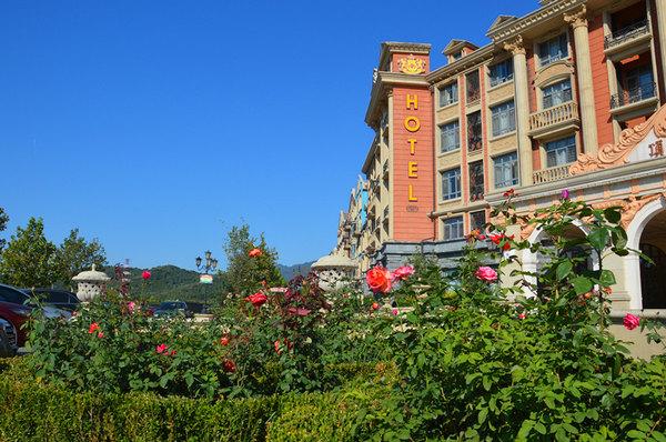 顶秀美泉小镇的欧式设计:钟楼,风车,喷泉,雕塑,彩色外墙,无处不透露出