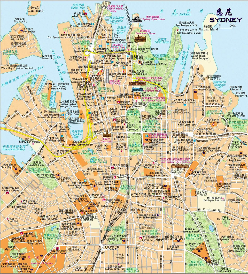 我的悉尼&墨尔本自由行2014(中文地图