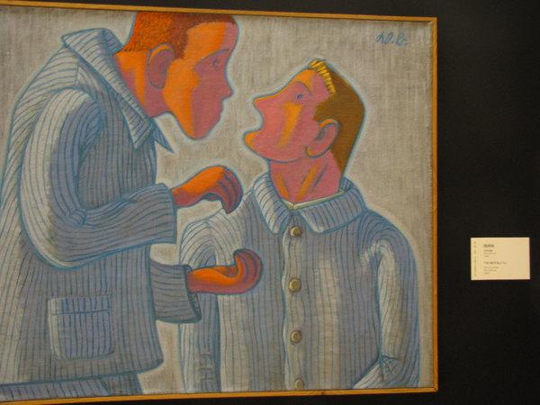 在中国美术馆看奥地利维尔纳.贝格的画展