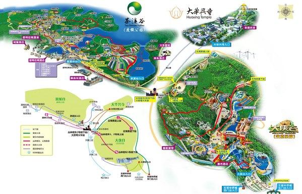 深圳野生动物园景点导览图