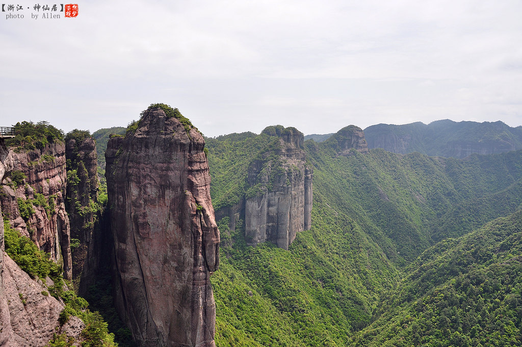 不同的山峰,造型都很独特