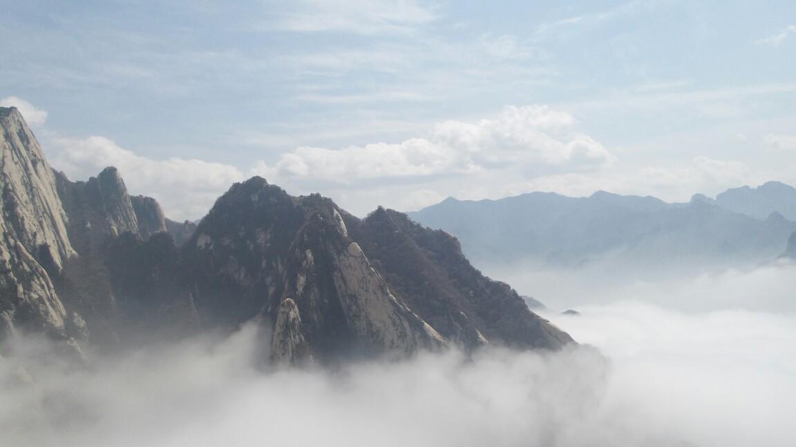 索道上华山图片