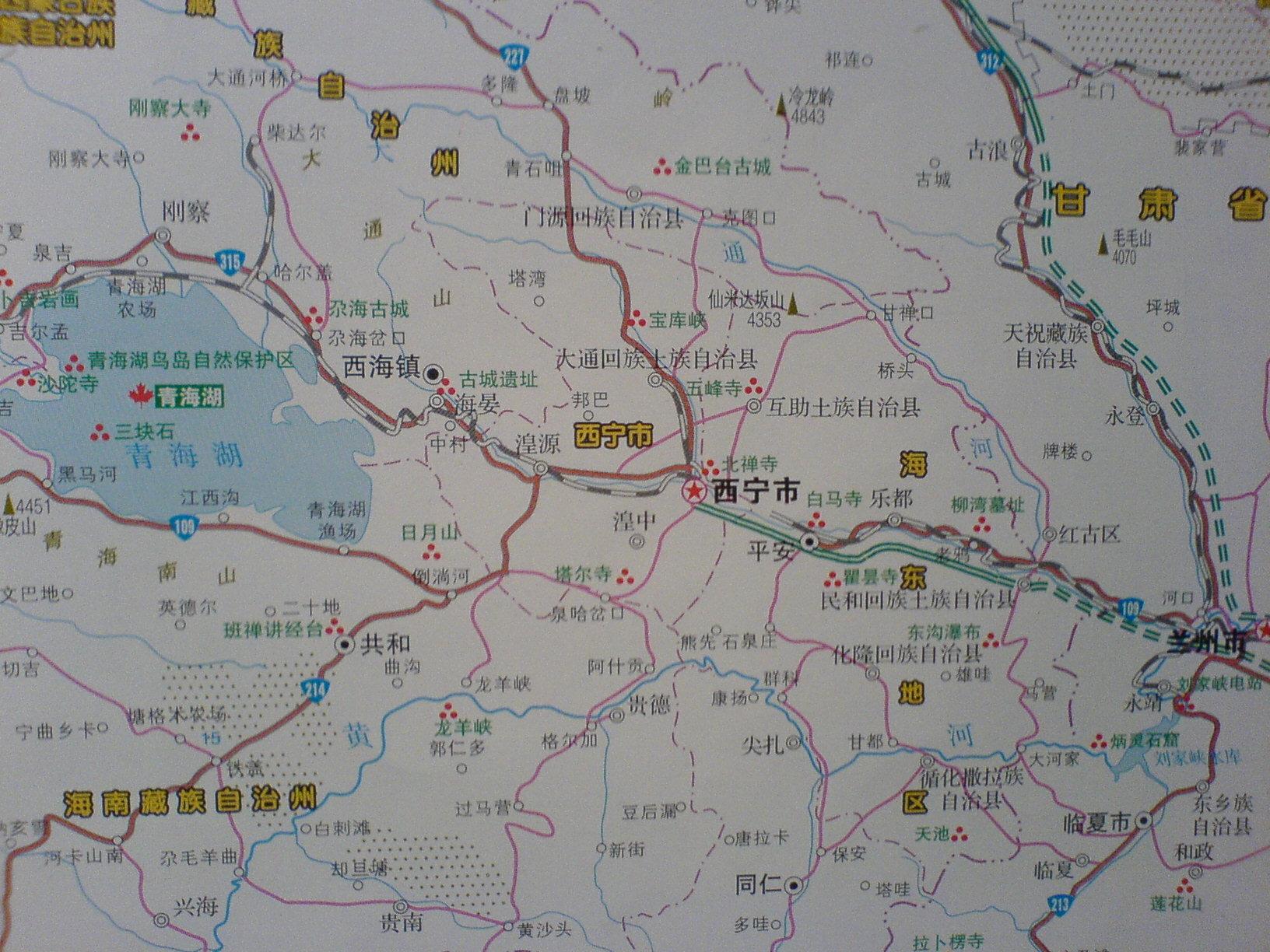 西宁地图图片