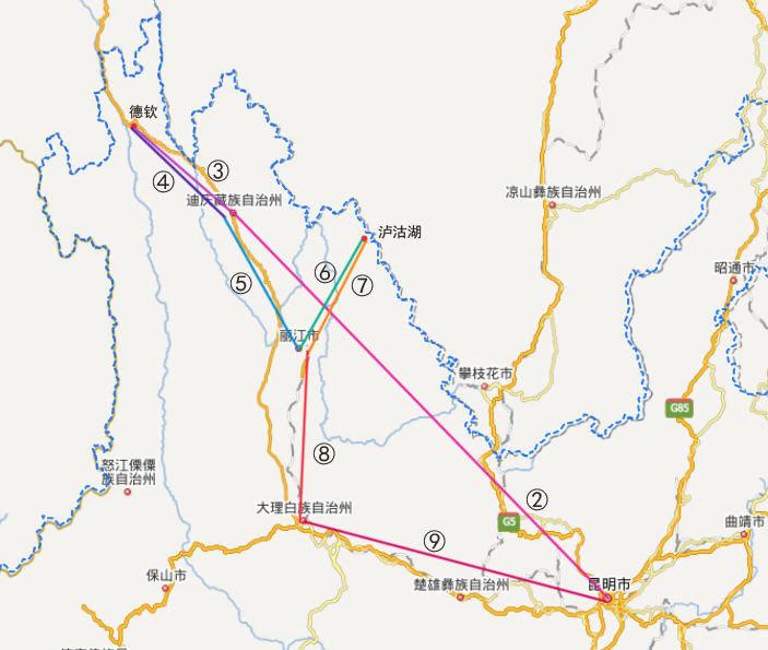 广州到丽江飞机要多久