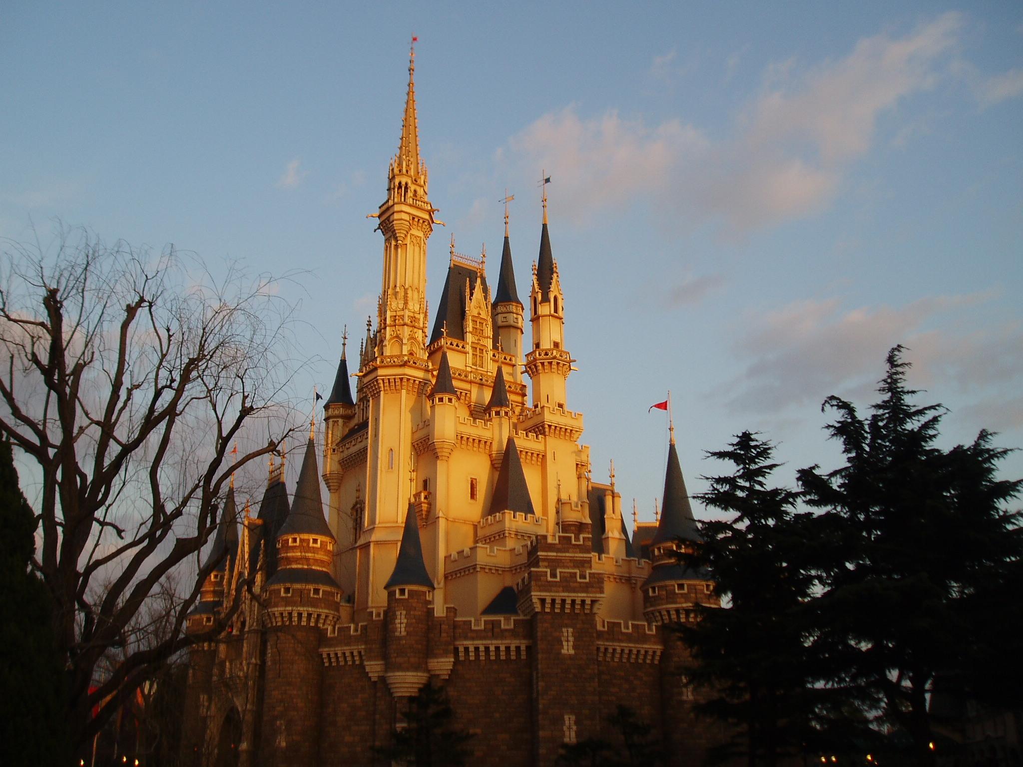 落日城堡场景素材超清
