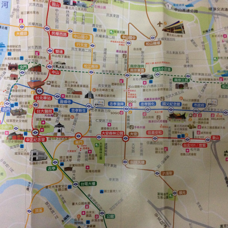 台北旅游地图
