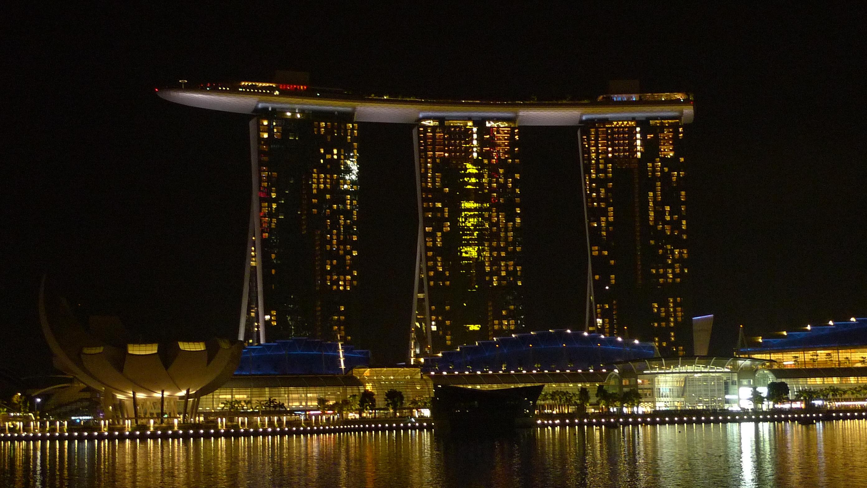 marina bay sands singapore(新加坡滨海湾金沙大酒店)