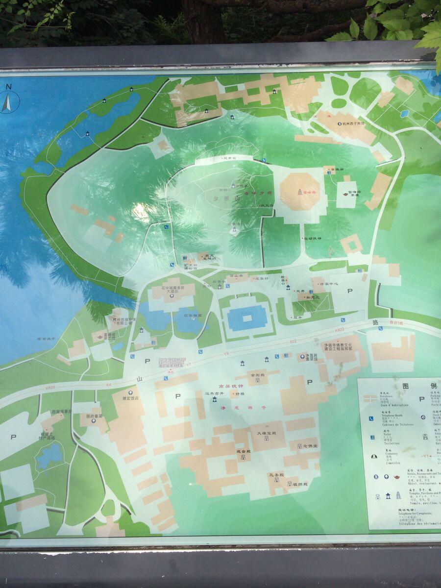 雷锋塔手绘地图