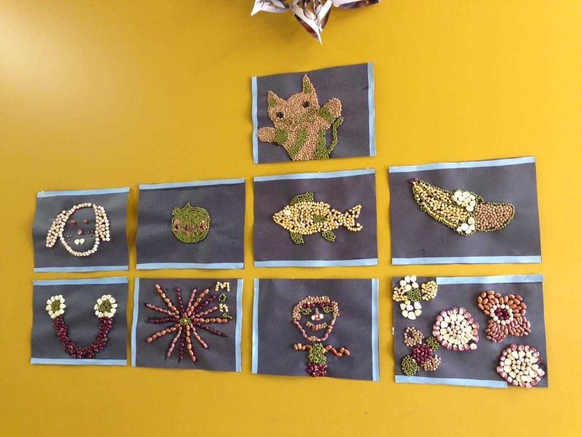 幼儿园大班作业展示墙