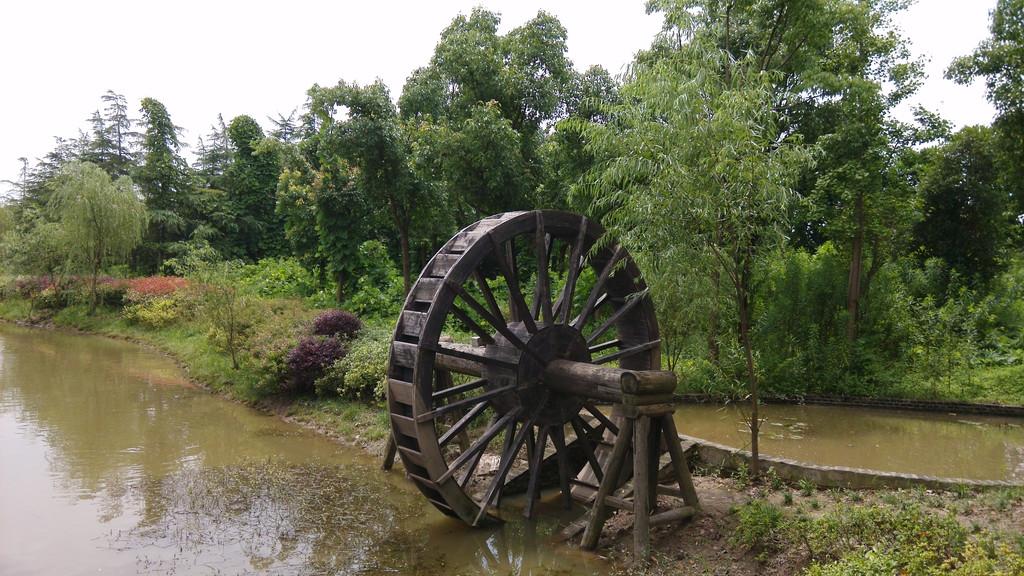 农庄设计效果图鱼塘