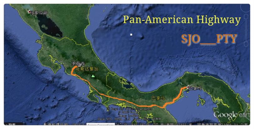 中美洲旅行日记(线路图)