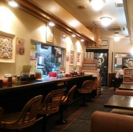 日本拉面店裝修風格圖片