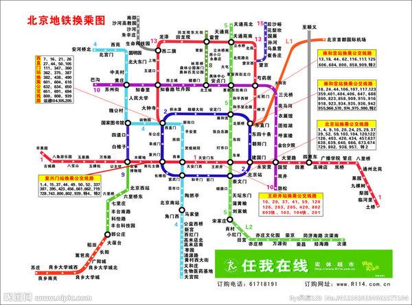 北京旅行路线手绘